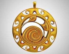 3D printable model Snail Necklace