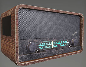 Vintage Radio 3D asset realtime audio