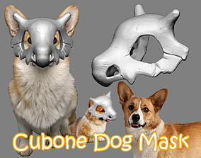 Cubone Dog Mask - Cubone Cat Pet Mask 3D printable model