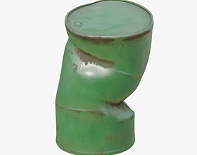 Damaged Oil Drum 3D asset