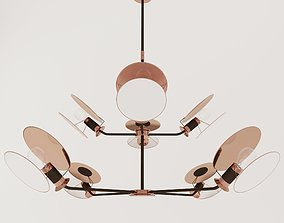 3D Chandelier Visual Comfort and Co Osiris Large Reflector