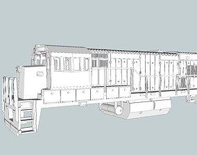 3D printable model GE U18B Locomotive Shell N Scale