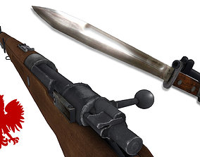 3D model Mauser with Bayonet