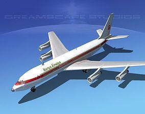 Boeing 707 Kenya Airways 3D model