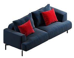 3D sofa 37 pillows