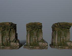 statue pompee 3D model low-poly