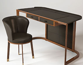 Giorgetti Ion Desk and Ode Chair 3D