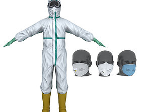 Collection of Protective Equipments 3D
