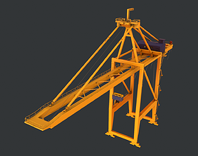 3D model PBR Quayside Container Crane Version 1 - Yellow 1