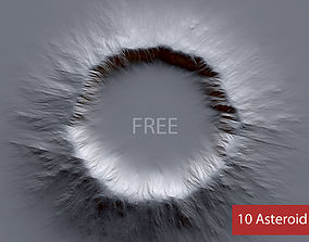 10 Free Asteroid Alphas - Brush Zbrush Free asteroid 3D
