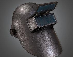 3D asset TLS - Metal Welding Helmet - PBR Game Ready