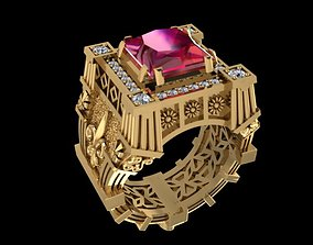 3D printable model Ruby Palace Ring