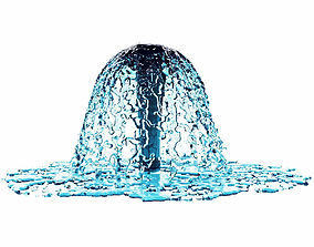 3D model Fountain 2