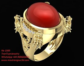3D print model 1585 Dragon Ring with Scorpico On sinde