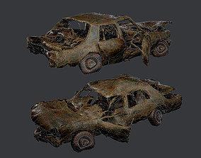 3D model Apocalyptic Damaged Destroyed Vehicle 3