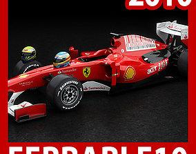 F1 2010 Ferrari F10 3D model