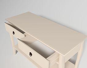 Cream Hall Table 3D asset