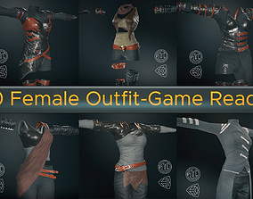 10 Female Outfit -Game Ready 3D