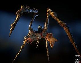 3D model BioMech Alien Spider LowPoly