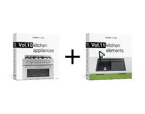Vol10 Kitchen appliances and Vol11 Kitchen 3D model