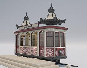 Vintage Tram Style Kiosk 3D model