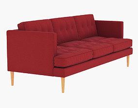 3D model West Elm Peggy Mid-Century Sofa