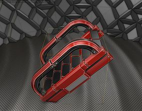 3D model Sci-Fi Stairs - 11- Red Version