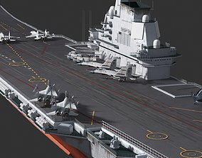 Chinese PLAN CV-17 Shandong ship Aircraft 3D asset 2