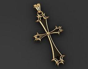 Cross with jesus gold 3D print model