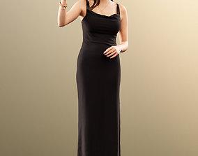 11521 Alyssa - Elegant Woman Black Dress 3D model 2
