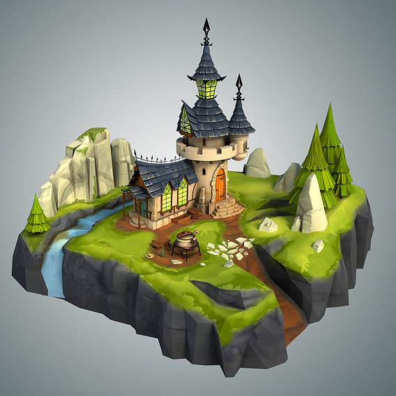 Stylized Castle Environment