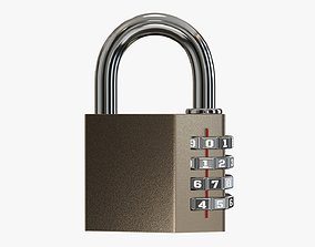 3D model Padlock with code 01