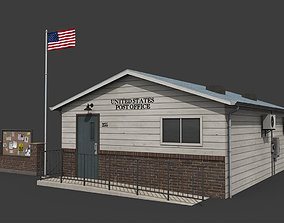 3D model Suburban Post Office