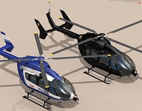EC145 law enforcement 3D model