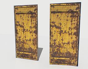 3D asset Rusty Metal Door 3