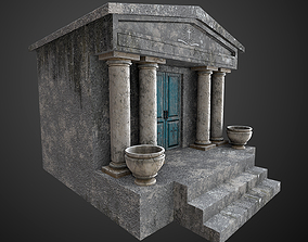 3D asset realtime Mausoleum Game Ready