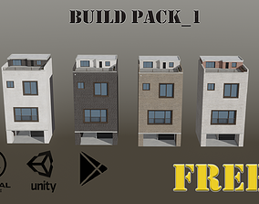 3D asset Building FREE Pack 1