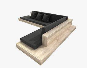 3D model Outdoor corner sectional sofa