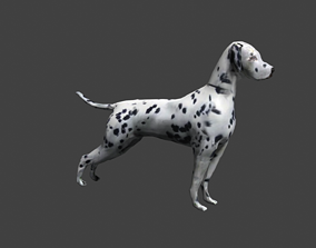 GAME-READY DOG 3D model rigged