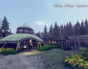 3D asset Viking Village