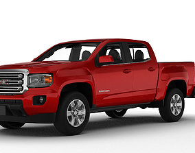 3D model GMC Canyon crew pickup 2019