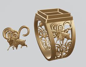 jewelry 3D print model zodiac sign Aries