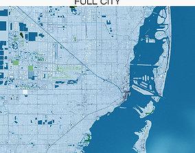 Miami with terrain 3D