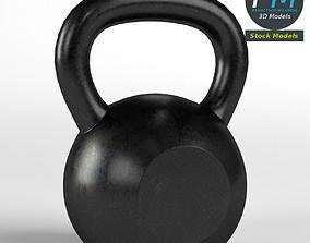 Kettlebell gym equipment 3D