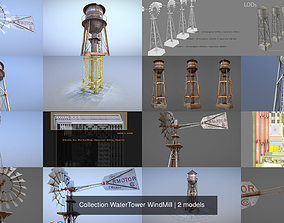 3D model Collection WaterTower WindMill