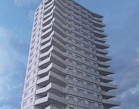 3D model 20 Storey Residential Building