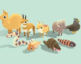 3D asset Desert Animals - Quirky Series