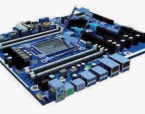 3D model HP 914285 Motherboard