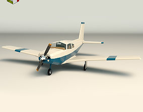 Low Poly Light Aircraft 02 3D asset
