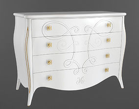 3D Seven Sedie Chest of drawers Butterfly